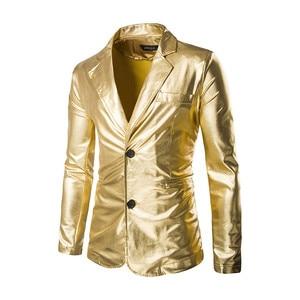 Image 2 - Men 2 Pieces Set Costumes Golden Performance Show Suit And Pants Set Trouser Plus Size Male Party Costumes Clothing Silver Pants