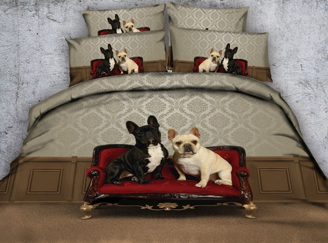 Cute dogs d bedding set comforter bedspreads quilt duvet cover