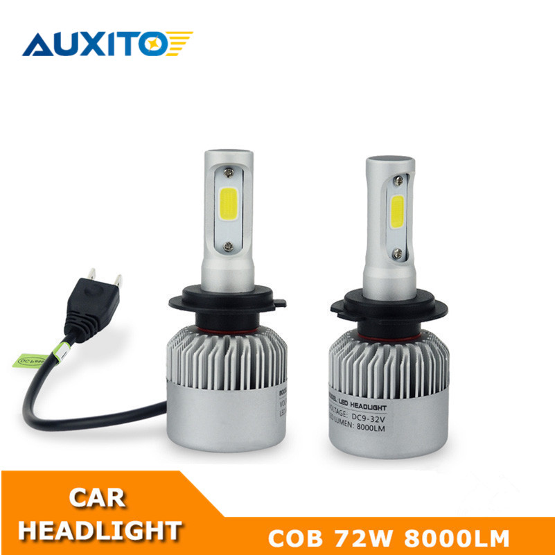 AUXITO H7 CANBUS COB Car Headlights For Volkswagen VW Jetta 2006-2009 2015-2017 No Error LED Headlight Bulb Fog Light 16000LM
