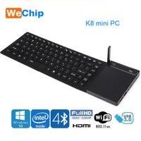 Новые K8 мини ПК Intel Z8300 4 ядра Windonw 10 настольных компьютеров Bluetooth 4,0 HDMI и VGA Dual Wi Fi с сенсорной панели клавиатура Ott Box