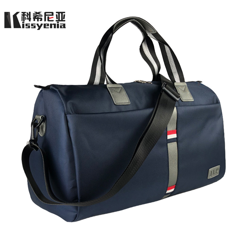 Kissyenia Men Travel Nylon Bucket Shoulder Bags Large Capacity Vacation Handbags Neutral Casual Women Flight Duffle Bolsa KS1075