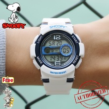 snoopy 50m Waterproof Children Watch Boys Girls LED Digital Sports Watches Plastic Alarm Date Casual Select Gift for kids