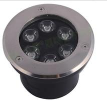 Free shipping 6w LED recessed Garden underground lamp inground light AC 110 240V 480lm
