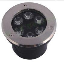 Frete grátis 6 w LED lâmpada subterrânea Jardim luz inground recesso AC 110-240 V 480lm