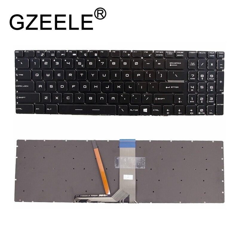GZEELE nouveau pour MSI Acier GS63VR WS60 GS70 2OD 2PE 2 pc Clavier Coloré Rétro-Éclairé US