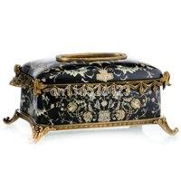 Высококачественная коробка из керамической ткани роскошное Ретро украшение стола сделанные вручную керамические креативная салфетка кор
