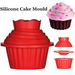 Molde de silicone gigante antiaderente, de 3 pçs/set, para máquina de lavar louça, forma de silicone, não aderente, para decoração fácil cozimento de bolo, ferramentas
