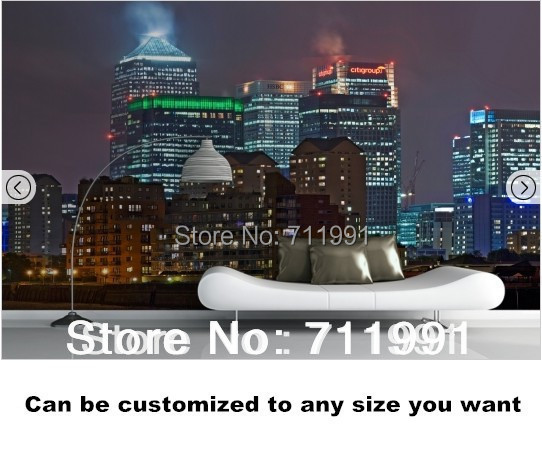 Custom photo wallpaper. London at Night Mural  for the livoing room of the hotel restaurant ceiling wall waterproof wallpaper custom baby wallpaper snow white and the seven dwarfs bedroom for the children s room mural backdrop stereoscopic 3d