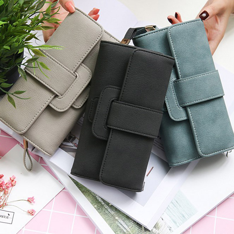 2018 New Women Wallet PU Leather Purse Card Holder Clutch Long Multi-card Bit Coins Purses LBY2018