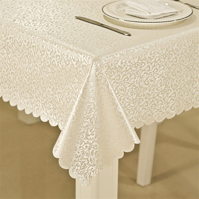 High Quality Waterproof / Oilproof Tablecloth With Exquisite Flowers