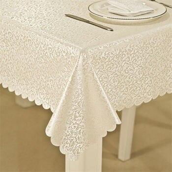 Mantel impermeable a prueba de aceite de alta calidad con flores elegantes decoración del hogar, mantel rectangular para mesa de cocina