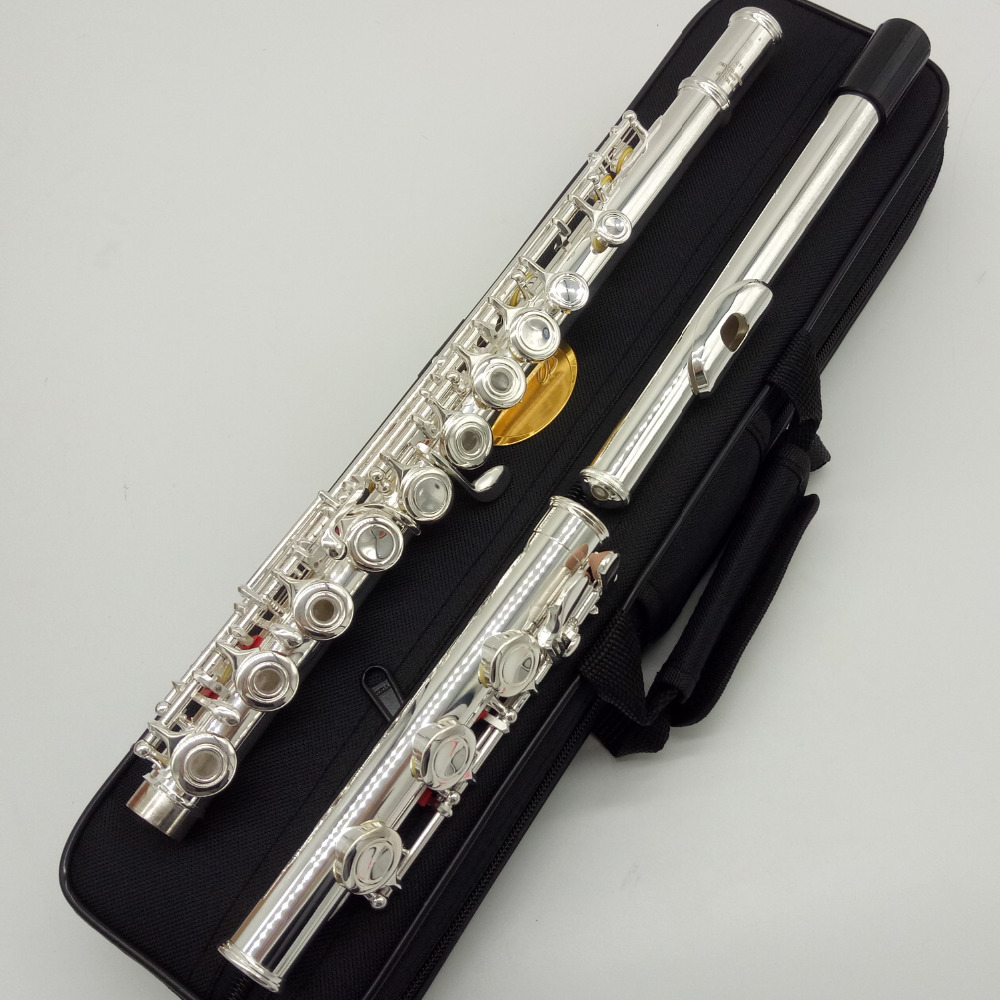 Music Fancier Club Japan Intermediate Standards Flutes MFCFL-382 Silver Plated Flute 16 17 Holes Closed Open Hole ostin gt2r72 93