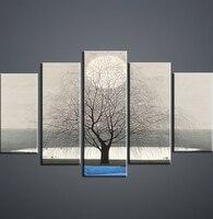 Pittura di paesaggio cinese All'ingrosso e al minuto 5 incantesimo combinazione di arte Della Parete ad Alta definizione a getto d'inchiostro