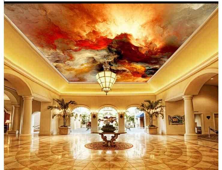 תמונה מותאמת אישית טפטים 3d תקרת טפט זניט ציורי 3 d את ענן שחר ציורי קיר קיר ניירות עיצוב הבית