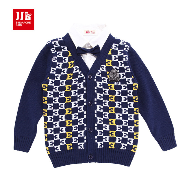 Babys мальчики ложным два джентльмен кардиган темперамент свитера размер 1-5 лет