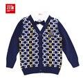Babys niños falso de dos temperamento caballero cardigan suéteres tamaño 1-5 años