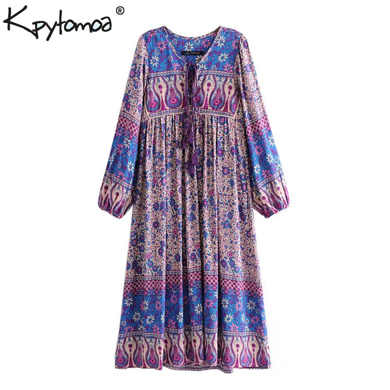 0231686cec3f0 Jastie Dreamy Oasis Boho Maxi Dress V Neck with Tassel Hippie chic ...