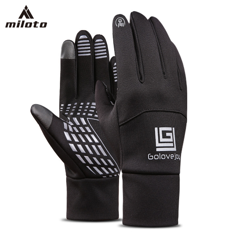 MILOTO 2018 Touch Screen Long Full Fingers Gel Sports Cycling Gloves Women Men Bicycle Gloves MTB Road Bike Riding Racing Gloves
