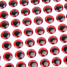 100pcs 3/7/12/16/20 Fish Eyes 3D Holographic Lure Eyes Fly Tying Jigs Crafts Dolls High Quality Artificial Fish Eyes Carp Fish