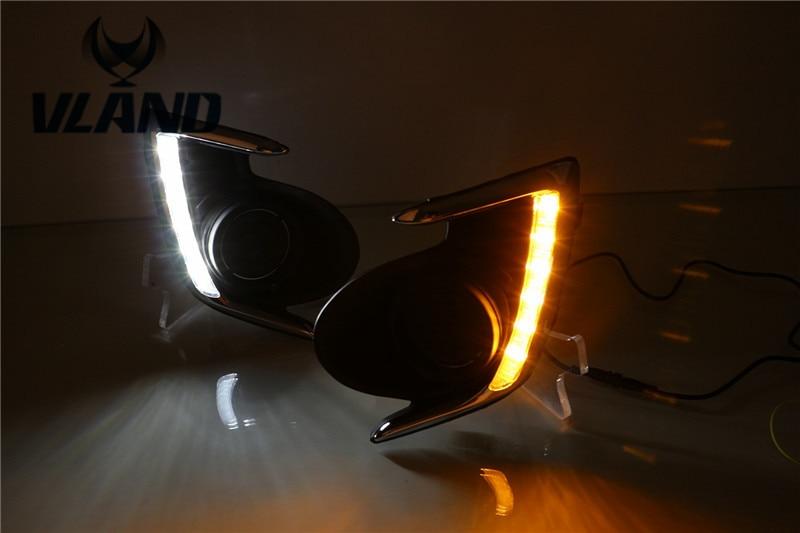 Бесплатная доставка для Mitsubishi Attrage G4 светодиодные дневные подножка свет 2012 2013 2014 2015 2016 противотуманные крышка лампы DRL вождения лампы