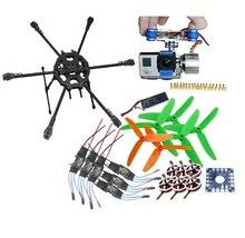F04299-A Tarot Fy680 Folding Aircraft RTF Kit: Tarot 3k Frame + Gimbal + 750kv Motor + KK Connection Board + Hobbywing ESC