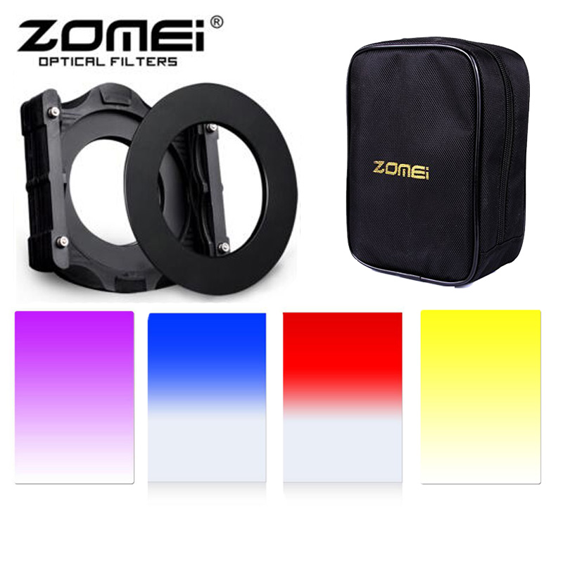 все цены на Zomei 7 in1 Square Z-PRO Kit Multifunctional Filter Holders+Adapter Ring+16 Solt Cas+Gradual(Purple+Blue+Orange+Red) for Cokin Z