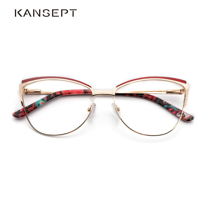 Metal Women Metal Glasses Frame Cat Eye Glasses Women Myopia Optical Clear Eyeglasses Frame Brand Designer Vintage