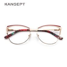 Metal Women Metal Glasses Frame Cat Eye Glasses Women Myopia Optical Clear Eyeglasses Frame Brand Designer Vintage
