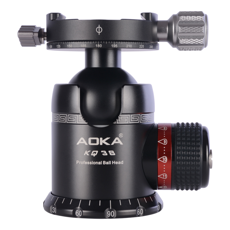 AOKA 360 degree panoramic tripod ball head ballhead for camera with quick release plate new 360 degree panoramic panorama ballhead clamp 10 indexing head rotator with quick release plate for camera tripod head