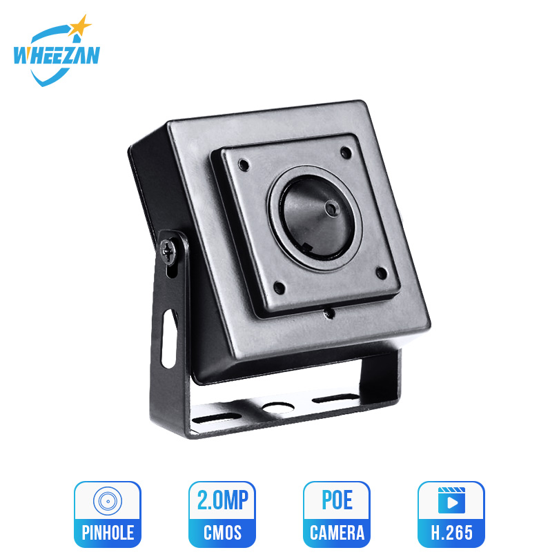 Wheezan Mini HD Camera Security 2MP Onvif H.265 CCTV POE IP Camera 12V 1080P Audio P2P Night Vision Home Surveillance Camera