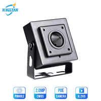 Wheezan Mini HD Camera Security 2MP Onvif H.265 CCTV POE IP Camera 12V 1080P Audio P2P Night Vision Home Surveillance Cameras