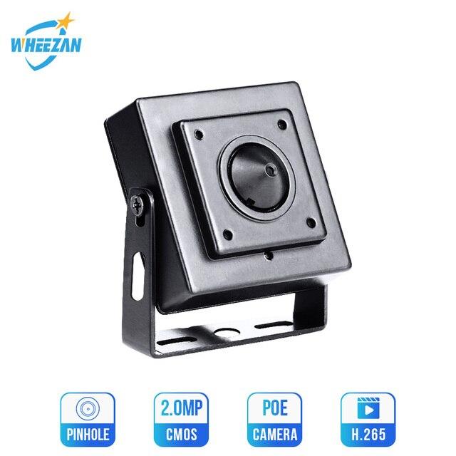 Wheezan Mini HD aparatu bezpieczeństwa 2MP Onvif H.265 CCTV POE kamera IP 12V 1080P Audio P2P widzenie w nocy domu kamery monitorujące