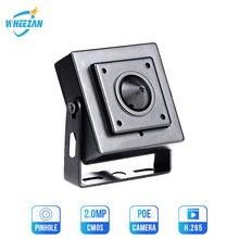 Wheezan 미니 hd 카메라 보안 2mp onvif h.265 cctv poe ip 카메라 12 v 1080 p 오디오 p2p 나이트 비전 홈 감시 카메라