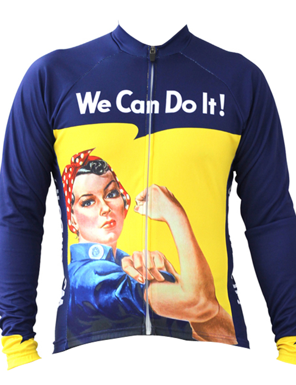 We Can Do It Cycling shirt bike equipment Mens Long Sleeve Cycling Jersey Cycling Clothing Bike Shirt Size 2XS To 6XL ILPALADIN new 17 black red spider mens breathable bike clothing polyester autumn long sleeve cycling jerseys size 2xs to 6xl