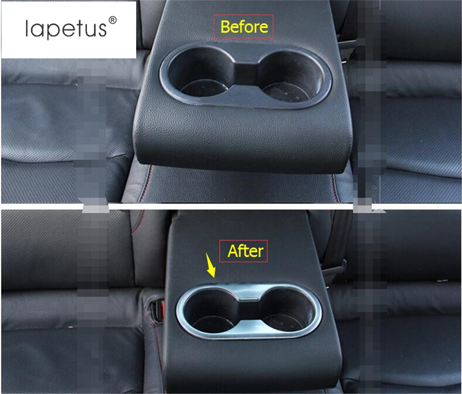 ABS Matte Rear Seat Water Cup Holder Cover Trim 1pcs For Mazda 3 Axela 2014-2018