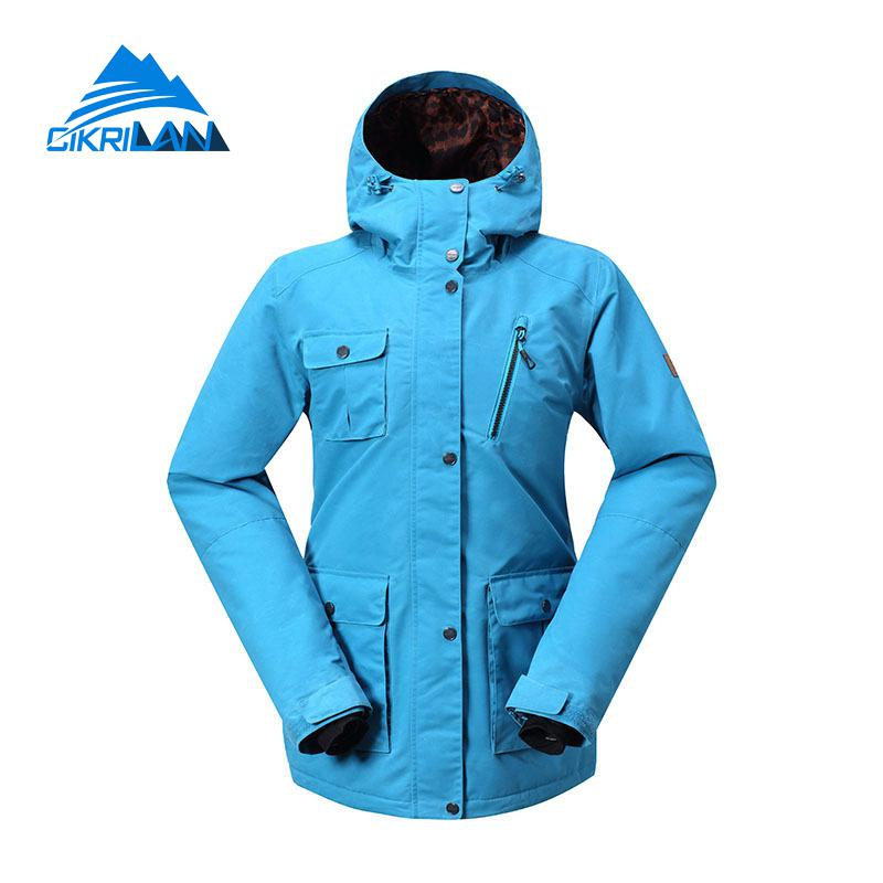 2017 Winter Womens Warm Outdoor Skiing Snowboarding Padded Jackets Snowboard Ski Jacket Women Snow Waterproof Windbreaker Coat 2017 outdoor 3in1 ski jacket women waterproof winter warm fleece snow jacket thermal coat female sports skiing snowboard jackets
