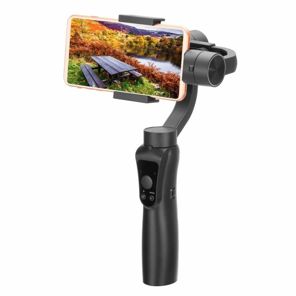3-axe Stabilisateur de Téléphone Mobile Selfie Bâton Anti-shake Tir Direct De Poche Cardan 5 V soutien Gopro Action caméra