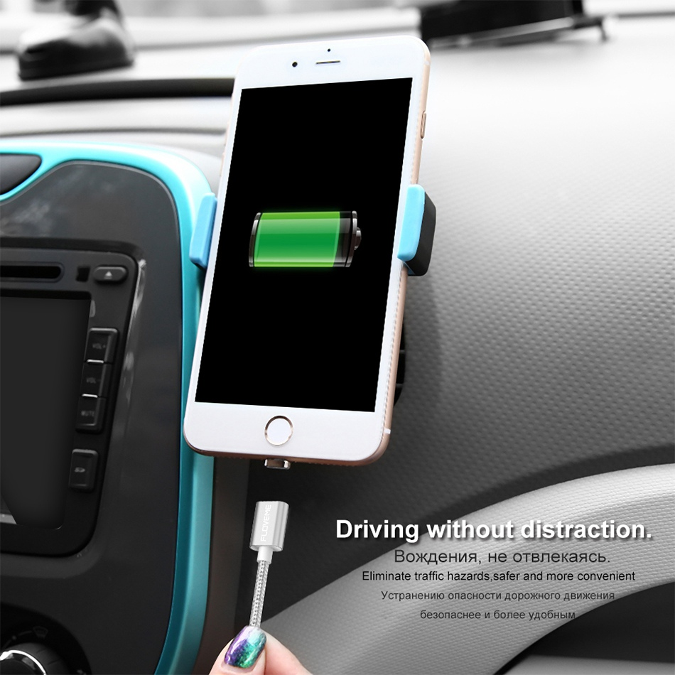 Magnetic USB Cable Upgraded 1 Line 2 USB For iPhone 7 6 6S Plus 5 5S SE Cables Micro USB  (13)