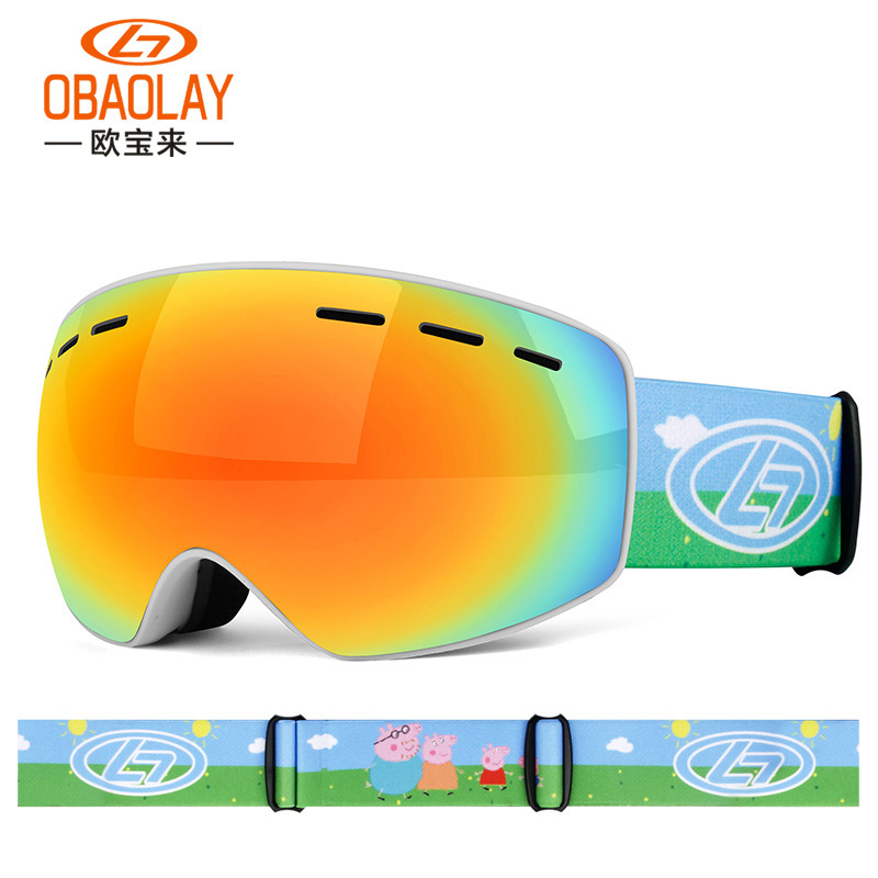 Children's Ski Goggles Double Anti-fog Spherical Children's Ski Glasses Outdoor Mountain Ski Goggles Snowboard Goggles