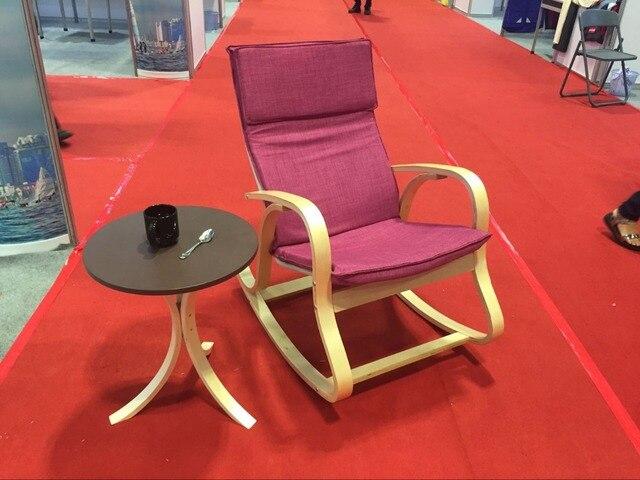 Bequeme Entspannen Schaukelstuhl Segelflugzeuge Sessel Mit Baumwolle Stoff  Kissen Wohnzimmer Möbel Moderne Schaukelstuhl Holz