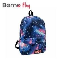 2016 mode Schultaschen Für Jugendliche Sterne Universum Raumdruck Rucksack Schule Buchen Rucksäcke Britische Flagge Tasche