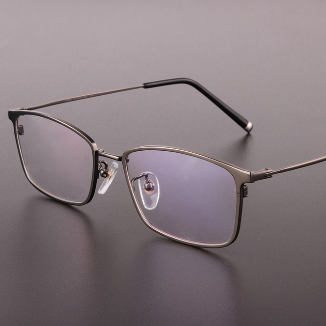 Бренда подлинного высокого класса мужские очки кадры чистого titanium full frame мужская очки кадров коробка очки по рецепту 9910
