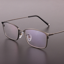 Brand genuine high-end mens glasses frames pure titanium full frame mens glasses frames box prescription glasses 9910