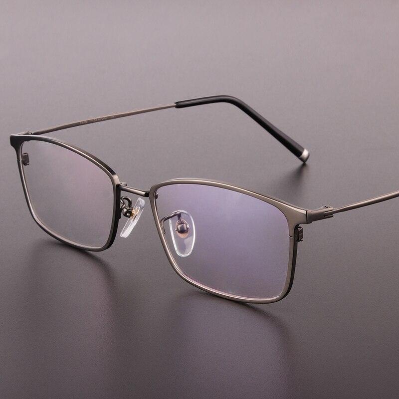 Titane lunettes haute qualité carré hommes lunettes Prescription lunettes plein cadre Designer optique lunettes cadre 910