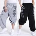 Бесплатная доставка плюс размер XL-5XL весна мужские хип-хоп брюки брюки хлопок печати мужчины известный бренд Очень большой мужской брюки 5 цвета