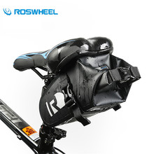 ROSWHEEL Bicycle Seat Bag Waterproof Cycling Bike Saddle Bag Under Seat Pack Tail Pouch Outdoor PVC Light Weight Saddle Pouch