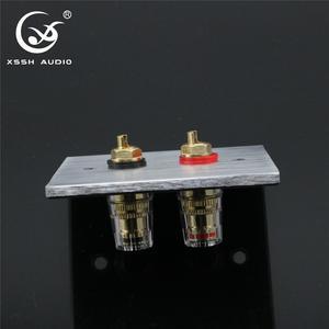 Image 3 - 1セットxsshオーディオハイエンドゴールドメッキアンプスピーカー端子メスロングショートバージョンバインディングポストと含むプレートソケット
