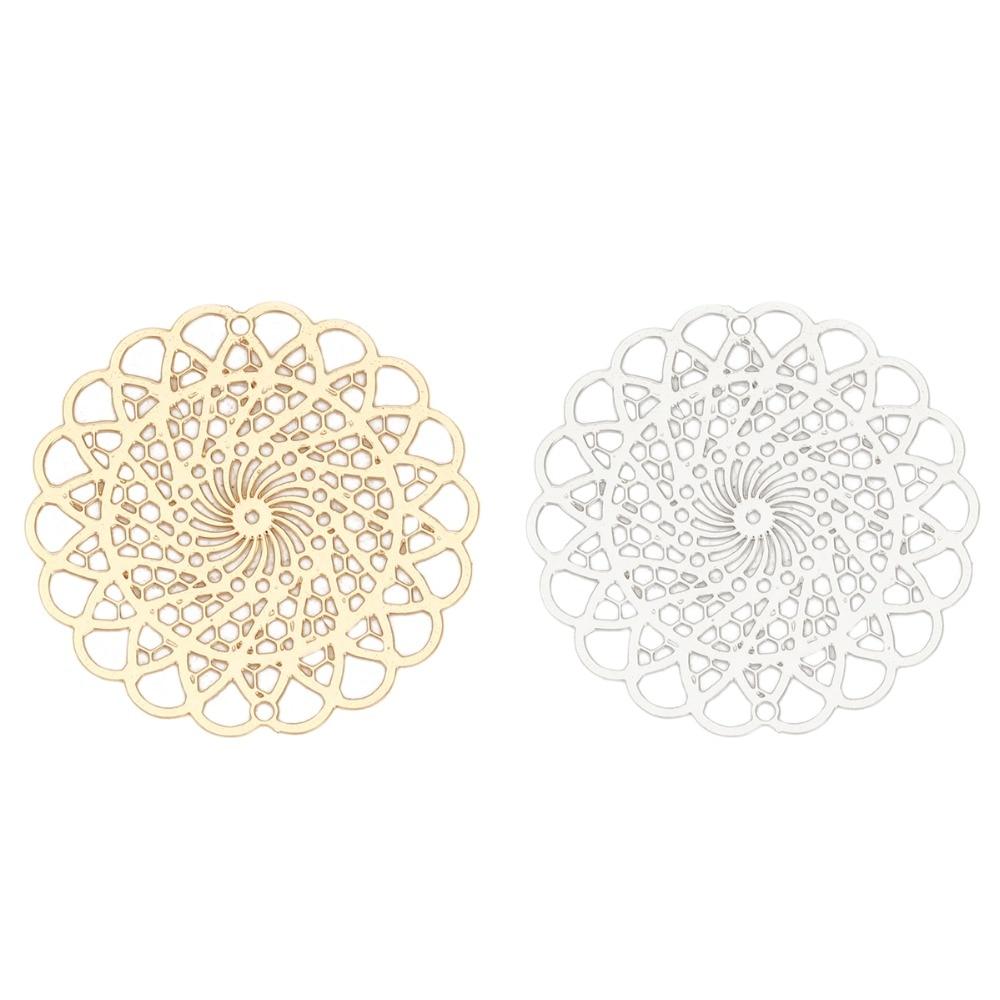 lady-muck1 Rose Gold DIAMOND HONEYCOMB Pendant Jewellery Making Findings  37mm