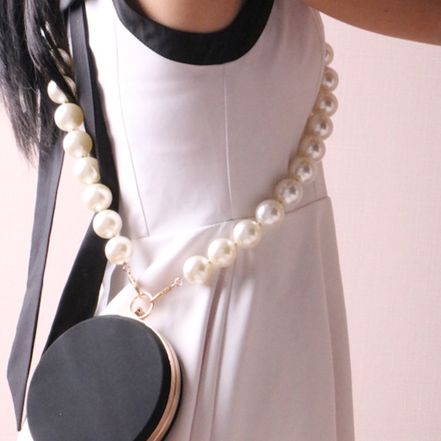 Luxe perle chaînes bandoulière perles sangle épaule ceinture sac à main bricolage remplacement mode chaîne bandoulière Accessoires