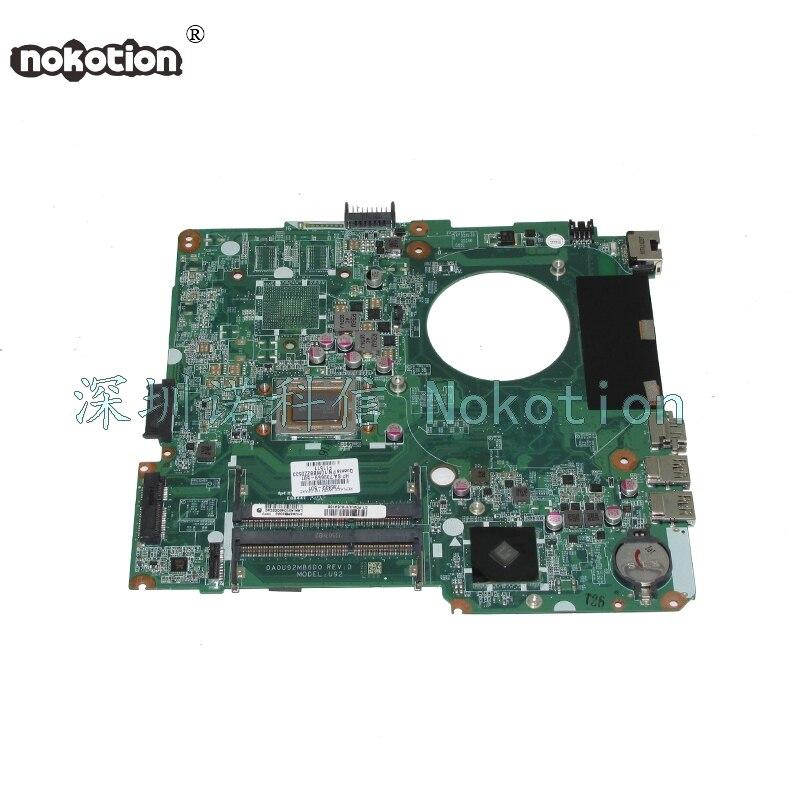 NOKOTION DA0U92MB6D0 736822-501 736822-001 739659-501 Pour HP Pavilion 14-N mère D'ordinateur Portable A8-4555M carte Principale